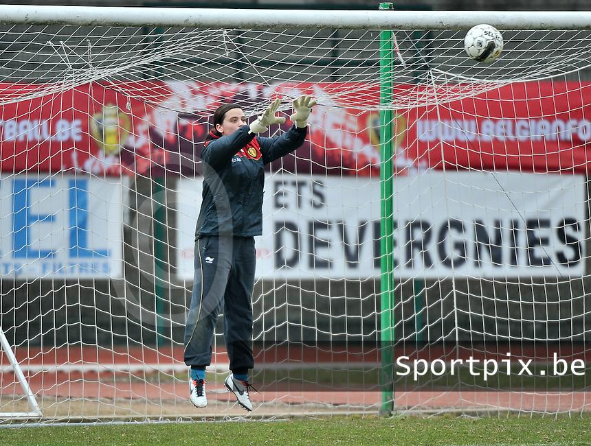 Belgium U19 - Switzerland U19 : Nicky Evrard.foto DAVID CATRY / Nikonpro.be
