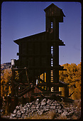 Coaling tower at Chama.<br /> D&amp;RGW  Chama, NM