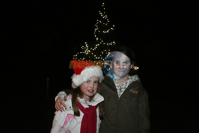 Jessica Salmon and Rosie Murphy at the Lighting of the Christmas Tree Lights in Baltray...Photo NEWSFILE/Jenny Matthews.(Photo credit should read Jenny Matthews/NEWSFILE)....This Picture has been sent you under the condtions enclosed by:.Newsfile Ltd..The Studio,.Millmount Abbey,.Drogheda,.Co Meath..Ireland..Tel: +353(0)41-9871240.Fax: +353(0)41-9871260.GSM: +353(0)86-2500958.email: pictures@newsfile.ie.www.newsfile.ie.FTP: 193.120.102.198.