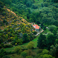 Used and lonesome houses near to Rijeka Crnojevica, Montenegro, Europe