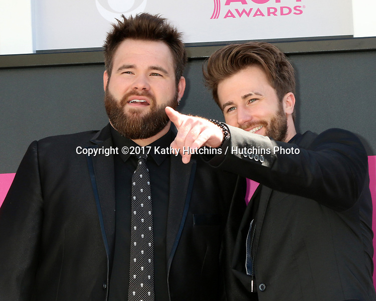 LAS VEGAS - APR 2:  The Swon Brothers at the Academy of Country Music Awards 2017 at T-Mobile Arena on April 2, 2017 in Las Vegas, NV