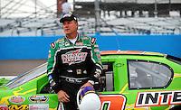 Apr 16, 2009; Avondale, AZ, USA; NASCAR Camping World Series West driver Billy Kann prior to the Jimmie Johnson Foundation 150 at Phoenix International Raceway. Mandatory Credit: Mark J. Rebilas-