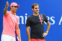 Roger federer (Sui) and Rafael Nadal (Esp) during kids day<br /> Flushing Meadows 26/08/2017<br /> Tennis US Open 2017 <br /> Foto Couvercelle/Panoramic/Insidefoto