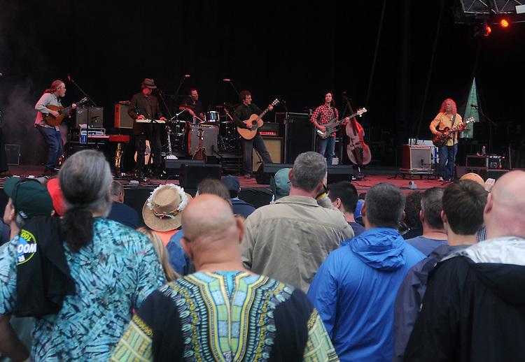 Railroad Earth, performing at the Mountain Jam Music Festival of 2015, in Hunter, NY, on Thursday June 4, 2015. Photo by Jim Peppler. Copyright Jim Peppler 2015.