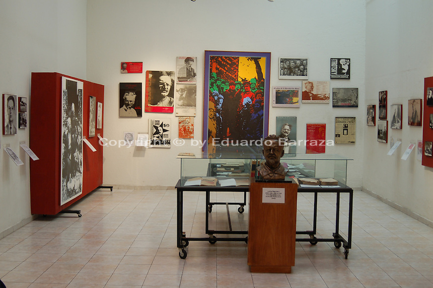 "Coyoacan, Mexico City - The Leon Trotsky House Museum is a venue honoring Leon Trotsky's life.  The venue displays memorabilia such as photographs, newspapers and Trotsky personal effects.  The site also houses an organization that works to promote political asylum.  The museum is a favorite destination of millions of tourists every year, and it is located in the Coyoacan borough of Mexico City.  The museum was built next to the house in which Trotsky lived with his second wife Natalia Sedova from 1939 to 1940, and where the Russian dissident was also murdered and buried.  The house has been preserved as it was at that time where Trotsky lived there, in particular the study in which Joseph Stalin' supporter Ramon Mercader killed Trotsky with an ice axe to the back of the head.  Around the house is a garden and high walls with watchtowers.  The complex was turned into the current museum and asylum institution in 1990, on the 50th anniversary of the assassination.  Coyoacan's name comes from Nahuatl it likely meaning ""place of coyotes"".  Hernán Cortes and the Spanish conquistadors used this area as a headquarters during the Spanish conquest of the Aztec Empire. They also made it the first capital of New Spain between 1521 and 1523.  In recent times, has been a counterculture hotbed and where Frida Kahlo and Diego Rivera lived, a few blocks away from Leon Trotsky.  Due the historic and cultural relevance, their homes are now the Frida Kahlo Museum and the Leon Trotsky Museum, which are visited by thousands of tourists every year.  Modern-day Coyoacan is a quiet residential area with cobblestone streets, restaurants, parks, squares, and a favorite hangout for bohemia enthusiasts. Photo by Eduardo Barraza © Copyright"