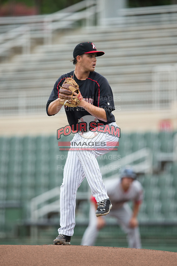 Kannapolis Intimidators starting pitcher Yelmison Peralta (33) in action against the Lakewood BlueClaws at Intimidators Stadium on July 14, 2015 in Kannapolis, North Carolina.  The Intimidators defeated the BlueClaws 8-2.  (Brian Westerholt/Four Seam Images)