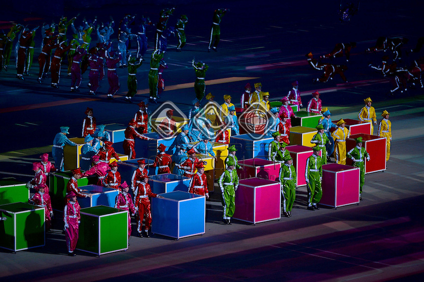 General views of the Closing Ceremony held inside Fisht Olympic Stadium in Sochi Olympic Park<br /> Australian Paralympic Team / Day 9<br /> Rosa Khutor Alpine Center<br /> Paralympics - 2014 Sochi Russia Winter Games<br /> Sunday March 16th 2014<br /> &copy; Sport the library / Jeff Crow