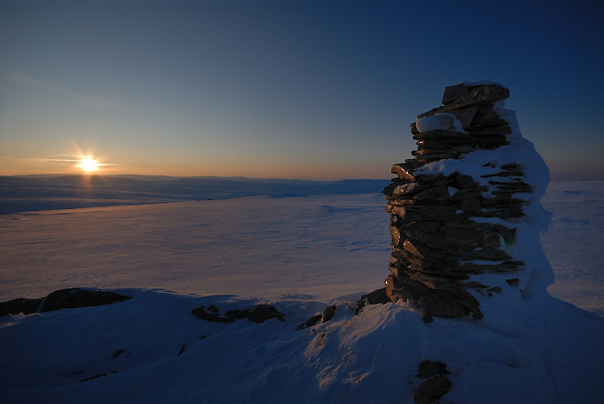 Winter sunset, Forollhogna,Norway Landscape, landskap,