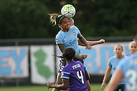Piscataway, NJ - Wednesday Sept. 07, 2016: Tasha Kai, Jamia Fields during a regular season National Women's Soccer League (NWSL) match between Sky Blue FC and the Orlando Pride FC at Yurcak Field.