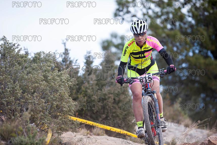 Chelva, SPAIN - MARCH 6: Lilian Soriano during Spanish Open BTT XCO on March 6, 2016 in Chelva, Spain