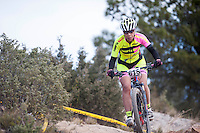Chelva, SPAIN - MARCH 6: Lilian Soriano during Spanish Open BTT XCO on March 6, 2016 in Chelva, Spain
