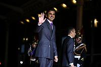 L Emir du Qatar Cheikh Tamim ben Hamad Al Thani <br /> Parigi 10-11-2018 <br /> Museo d'Orsay Cena Ufficiale Capi di Stato <br /> Commemorazione 100 anni dalla fine della Grande Guerra, Prima Guerra Mondiale <br /> Foto Gwendoline LeGoff/Panoramic / Insidefoto