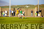 Skellig Ranger Michael O'Sullivan sell a great dummy to Listowel Emmets Tom Melvin creating space to get the shot off.