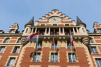 France, Paris (75), Cité internationale universitaire de Paris (CIUP),Façade d'inspiration flamande de la  Fondation Biermans-Lapôtre, Maison des Étudiants belges // France, Paris, International students residence (Cite Universitaire), Biermans-Lapôtre Foundation, house of the Belgian students