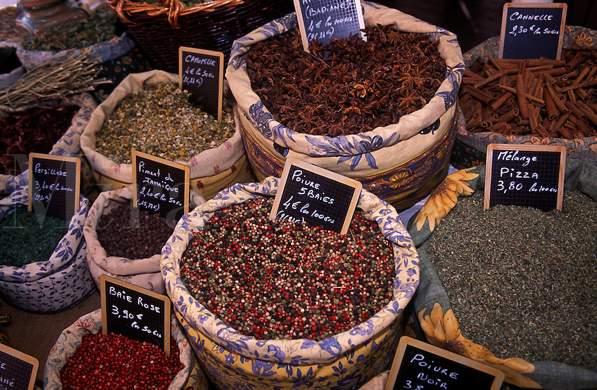 Herb and spice market. Nice. (Provence) France.