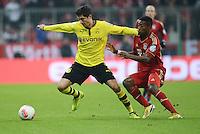 FUSSBALL  DFB-POKAL  VIERTELFINALE  SAISON 2012/2013    FC Bayern Muenchen - Borussia Dortmund          27.02.2013 Robert Lewandowski (li, Borussia Dortmund) gegen David Alaba (re, FC Bayern Muenchen)