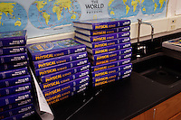 Lindsay, California, September 5, 2012 - Text books play a lesser role in the overall education of students at Lindsay High School. In 2005 the school began building a competency-based education model, fully implementing it just over three years ago and is set to graduate its first class this school year. This model does away with traditional grading and pass/fail for grades. Instead students are expected to achieve proficiency in a range of areas in each class, where a 3 (equal to a traditional B) is passing; A 4 is considered intensive and usually denotes college bound. Says Principal Jaime Robles, ?This allows students to learn at there own pace. If a student is advanced, they can move ahead, and if a student is lagging, they get the support they need.? Part of this model allows for students who are more advanced dig deeper and push harder and truly move ahead of others. Because they are ahead, some spend the extra time learning more, others take concurrent classes at the nearby community college and some choose to graduate early to start their path. ?Each student has their own set of goals,? says English teacher Amalia Lopez, ?Whatever their goals are, we support them.?.Slug: DD_ CompetencyByline: Daryl Peveto / LUCEO for Education Week