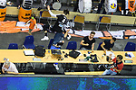 06.05.2018, Max Schmeling Halle, Berlin<br />Volleyball, Bundesliga MŠnner / Maenner, Play-offs, Finale 4. Spiel, Berlin Recycling Volleys vs. VfB Friedrichshafen<br /><br />Abwehr Luke Perry (#4 Berlin) in die Journalisten<br /><br />  Foto &copy; nordphoto / Kurth