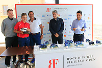 Nearest pin at the prize giving during the ProAm ahead of the Rocco Forte Sicilian Open played at Verdura Resort, Agrigento, Sicily, Italy 09/05/2018.<br /> Picture: Golffile | Phil Inglis<br /> <br /> <br /> All photo usage must carry mandatory copyright credit (&copy; Golffile | Phil Inglis)