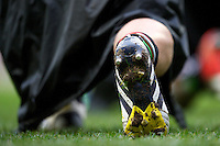 Detail of a player's boot during the Aviva Premiership match between Harlequins and London Irish at Twickenham on Saturday 29th December 2012 (Photo by Rob Munro).