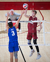 STANFORD, CA - March 2, 2019: Jordan Ewert at Maples Pavilion. The Stanford Cardinal defeated BYU 25-20, 25-20, 22-25, 25-21.
