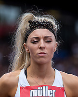 Alexandra BELL of GBR before the 800m during the Muller Grand Prix Birmingham Athletics at Alexandra Stadium, Birmingham, England on 20 August 2017. Photo by Andy Rowland.
