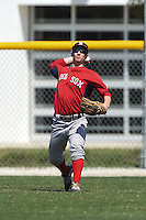 Boston Red Sox Danny Mars (40) during practice before a minor league spring training game against the Baltimore Orioles on March 20, 2015 at Buck O'Neil Complex in Sarasota, Florida.  (Mike Janes/Four Seam Images)
