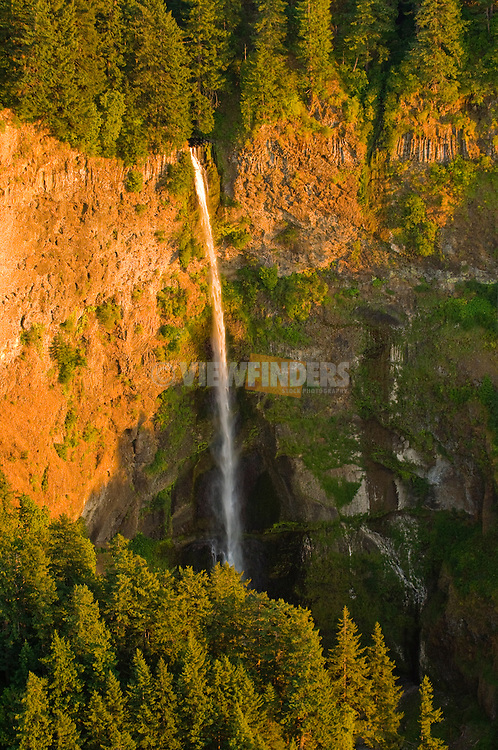 Aerial View of Multnomah Falls, Oregon