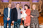 Baby Ayda Rose With her parents William & Fiona Kennelly, Listowel  and god parents Niall Finnucane & Ailish Carmody who was christened by Canon Declan O'Connor in St. Mary's Church, Listowel on Saturday last and afterwards at Behan's Horseshoe Bar, Listowel.
