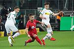 15.03.2019, Borussia Park , Moenchengladbach, GER, 1. FBL,  Borussia Moenchengladbach vs. SC Freiburg,<br />  <br /> DFL regulations prohibit any use of photographs as image sequences and/or quasi-video<br /> <br /> im Bild / picture shows: <br /> AMIR ABRASHI (Freiburg #6), im Zweikampf gegen  Jonas Hofmann (Gladbach #23),   <br /> <br /> Foto © nordphoto / Meuter