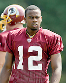 Ashburn, VA - August 4, 2009 -- Wide receiver Malcolm Kelly (12) at the 2009 Washington Redskins training camp at Redskins Park in Ashburn Virginia on Monday, August 4, 2009..Credit: Ron Sachs / CNP