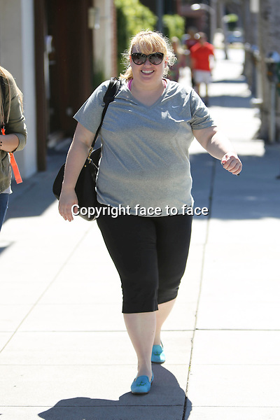 Rebel Wilson came out of Jiu jitsu practice in Beverly Hills, 08.03.2014.<br /> Credit: Vida/face to face
