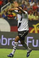 RIO DE JANEIRO, RJ, 22 DE FEVEREIRO 2012 - CAMPEONATO CARIOCA - SEMIFINAL - TAÇA GUANABARA - VASCO X FLAMENGO - Alecssandro, jogador do Vasco, comemora o seu gol, durante partida contra o Flamengo, pela semifinal da Taça Guanabara, no estádio Engenhão, na cidade do Rio de Janeiro, nesta quarta-feira, 22. FOTO: BRUNO TURANO – BRAZIL PHOTO PRESS.
