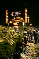Ramadan festivities out the Blue Mosque, Istanbul, Turkey