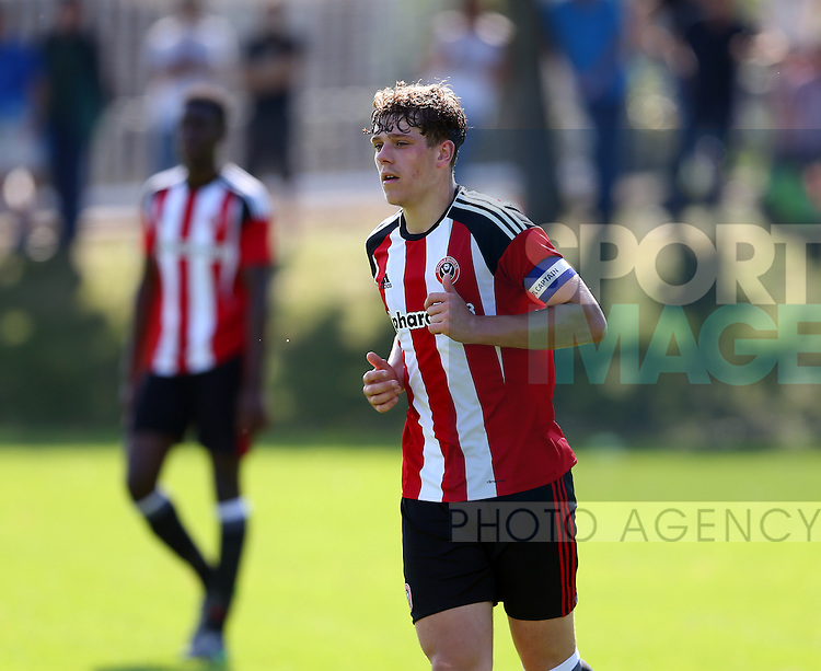 Callum Semple of Sheffield Utd during the Professional Development League Two match at Shirebrook Training Complex, Sheffield. Picture date: September 13th, 2016. Pic Simon Bellis/Sportimage
