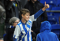 Huddersfield Town fans applauds the players at the final whistle <br /> <br /> Photographer Ian Cook/CameraSport<br /> <br /> The EFL Sky Bet Championship - Cardiff City v Huddersfield Town - Wednesday August 21st 2019 - Cardiff City Stadium - Cardiff<br /> <br /> World Copyright © 2019 CameraSport. All rights reserved. 43 Linden Ave. Countesthorpe. Leicester. England. LE8 5PG - Tel: +44 (0) 116 277 4147 - admin@camerasport.com - www.camerasport.com1