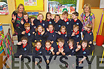 pictured on their first day of school at Listellick  national school, Tralee on Friday.