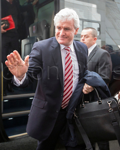 09.01.2016. Keepmoat Stadium, Doncaster, England. Emirates FA Cup 3rd Round. Doncaster versus Stoke City. Stoke City Manager Mark Hughes arriving at the Keepmoat Stadium, home of Doncaster Rovers FC.