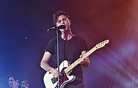 10 February 2017 - Hamilton, Ontario, Canada.  Vocalist Max Kerman of Canadian rock band Arkells performs on stage during their homecoming concert to celebrate the release of 'Morning Report' at FirstOntario Centre.  Photo Credit: Brent Perniac/AdMedia