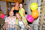 Christine Connolly from Fenit celebrating her 40th Birthday at Bella Bia's on Friday .  Mike Connolly, Christine Connolly, Tracey O'Sullivan, Caroline Reidy