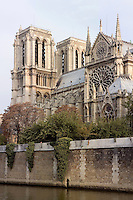 Notre Dame de Paris, 12th to 14th century, initiated by the bishop Maurice de Sully, Ile de la Cité, Paris, France. Picture by Manuel Cohen
