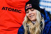 February 5th 2019, Are, Northern Sweden;  Lindsey Vonn of USA looks dejected after competing in for womens super-G during the FIS Alpine World Ski Championships on February 5, 2019