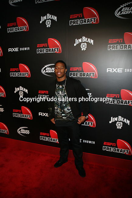 Superbowl Champion Baltimore Raven's Ray Ric Attends ESPN The Magazine Presents the 10th Annual Pre-Draft Party Held at The IAC Building, NY D. Salters 4/24/13