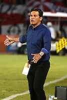 BARRANQUILLA - COLOMBIA -11 -07-2015: Flavio Torres, técnico de Cucuta Deportivo, durante partido entre Atletico Junior y Cucuta Deportivo, por la fecha 1 por la Liga Aguila II 2015, jugado en el estadio Metropolitano Roberto Melendez de la ciudad de Barranquilla. / Flavio Torres, coach of Cucuta Deportivo, during a match between Atletico Junior and Cucuta Deportivo, for the date 1 of the Liga Aguila II 2015 at the Metropolitano Roberto Melendez Stadium in Barranquilla city. Photo: VizzorImage  / Alfonso Cervantes / Cont