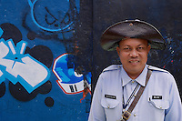 Tourist Police - Guard in traditional cloths, historical part of Manila, Philippines