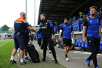 Dave Attwood and the rest of the Bath Rugby team arrive. Pre-season friendly match, between Edinburgh Rugby and Bath Rugby on August 17, 2018 at Meggetland Sports Complex in Edinburgh, Scotland. Photo by: Patrick Khachfe / Onside Images