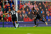 9th September 2017, bet365 Stadium, Stoke-on-Trent, England; EPL Premier League football, Stoke City versus Manchester United; Romelu Lukaku of Manchester United celebrates scoring his teams second goal