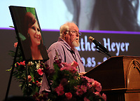Mark Heyer, the father of Heather Heyer who was killed when a vehicle drove into a crowd of counter-protestors after the Unite The Right rally, gave a heartwarming speech during a memorial service for his daughter Wed., August 16, 2017, at the Paramount Theater in Charlottesville, Va. Heyer was killed the previous weekend when a vehicle drove into a crowd of counter-protestors after the Unite The Right rally. Photo/Andrew Shurtleff