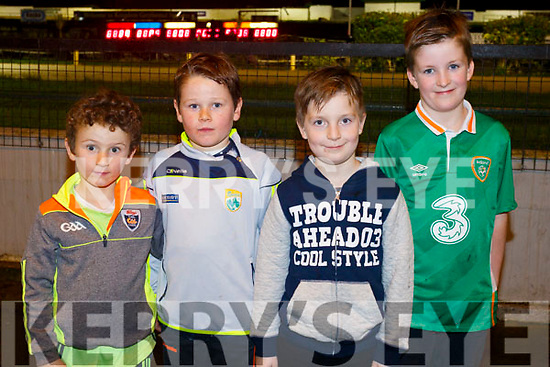 Enjoing the Dogs at the Kingdom Greyhound Stadium  on Friday were Conor Reidy, Ryan Reidy, Elliot Lyons and Sean Cantwell