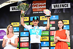 Polish National Champion Michal Kwiatkwoski (POL) Team Sky wins the opening Prologue of the 2018 Criterium du Dauphine running 6.6km around Valence, France. 3rd June 2018.<br /> Picture: ASO/Alex Broadway | Cyclefile<br /> <br /> <br /> All photos usage must carry mandatory copyright credit (&copy; Cyclefile | ASO/Alex Broadway)
